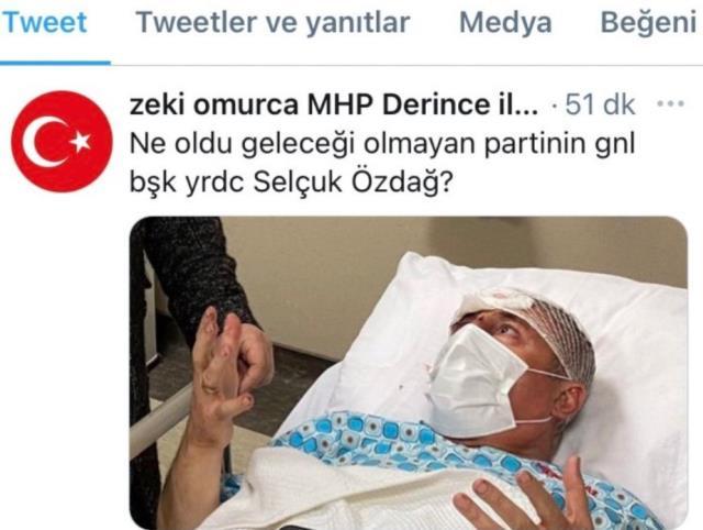 MHP'li başkandan saldırıya uğrayan Selçuk Özdağ'la ilgili tepki çeken paylaşım