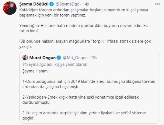 Sancaktepe Belediye Başkanı Döğücü ile İBB Sözcüsü Ongun Twitter'da atıştı