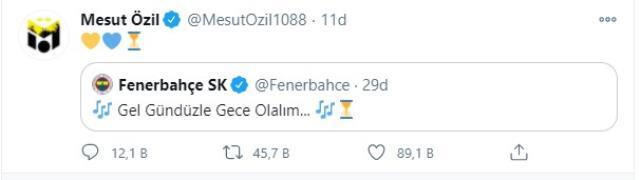 Son Dakika: Mesut Özil, sosyal medyadan yaptığı Fenerbahçe paylaşımıyla transfer sinyali verdi