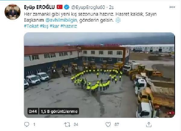 Tokat ve Sivas belediye başkanlarının sosyal medyada 'kar' diyaloğu gülümsetti