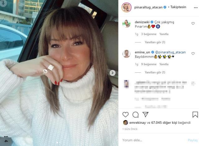 Ünlü oyuncu Pınar Altuğ, saçlarını koyu renge boyattı