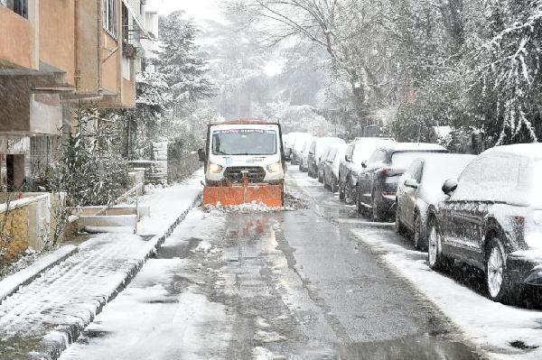Beşiktaş'ta kar nöbeti başladı