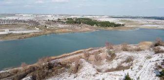Tekirdağ: Hayrabolu Göleti 'kış güzelliği' ile dikkati çekiyor