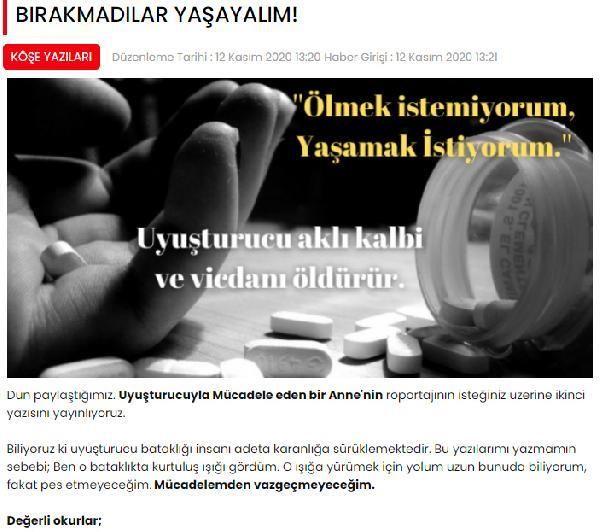 'Ana' lakaplı uyuşturucu şebekesi lideri, haber sitesinde 'uyuşturucuyla mücadele' yazısı yazdırmış