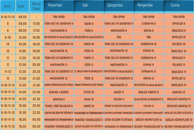 eba tv ilkokul ortaokul lise 18 ocak pazartesi 13872716 8937 m
