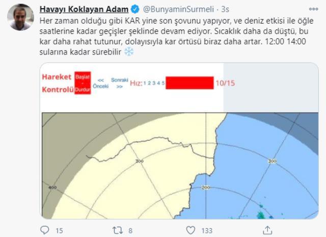 Etkisini saat 14.00'e kadar sürdürecek kar yağışı bugün İstanbul'u terk edecek