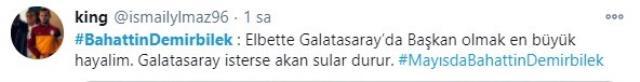 Galatasaraylı taraftarlar, başkanlığa Bahattin Demirbilek'i istiyor
