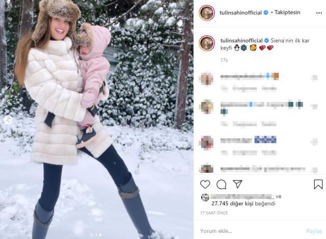 karın keyfini çıkaran ünlü isimler, sosyal medya hesaplarından peş peşe paylaşım yaptı