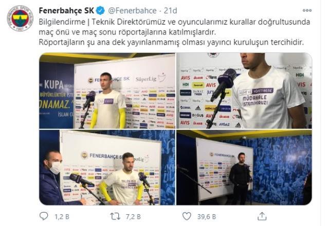 Protesto sonrası yayıncı kuruluş atağa geçti! Fenerbahçe'den yanıt gecikmedi