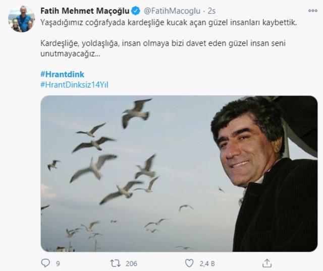 Sosyal medyada Hrant Dink için binlerce paylaşım yapıldı