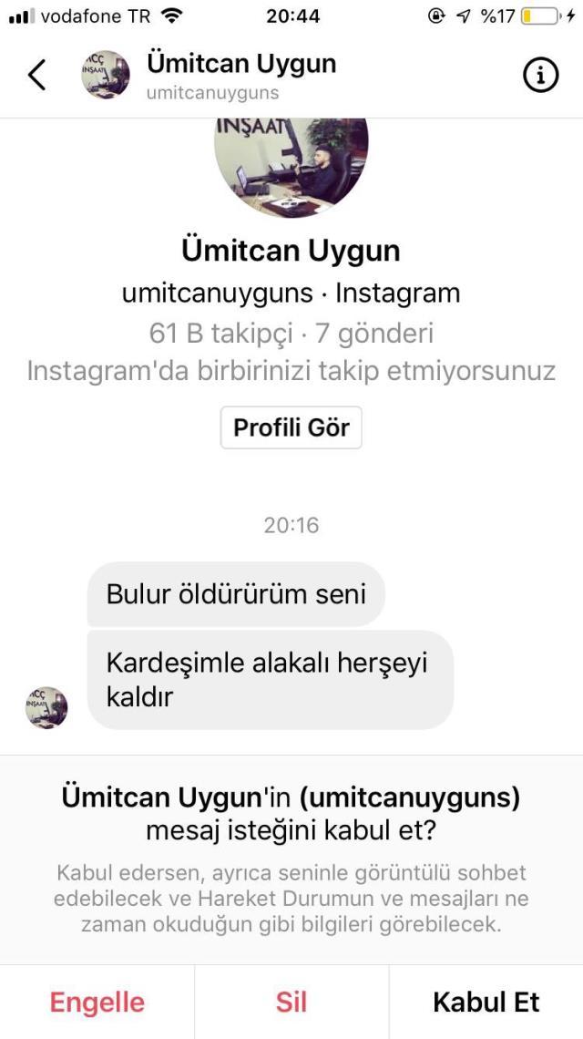 Ümitcan Uygun'un ağabeyi, Müge Anlı ve tepki gösterenleri ölümle tehdit etti