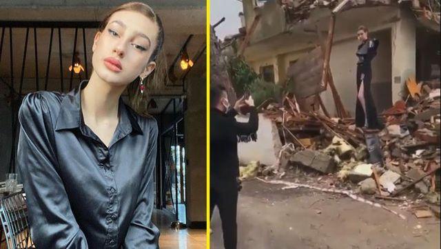 Yaklaşan İstanbul depremine dikkat çekmek için enkaz üzerinde poz veren Itır Esen, tepkilerin ardından ilk kez konuştu