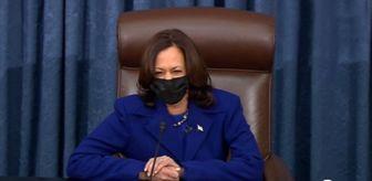Senatör: Kamala Harris, koltuğa oturur oturmaz kahkahalara boğuldu