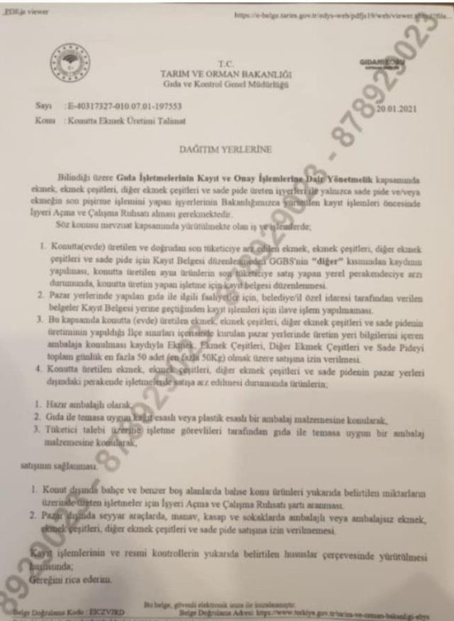 Tarım ve Orman Bakanlığı'ndan İBB'nin mobil ekmek büfelerine yasak