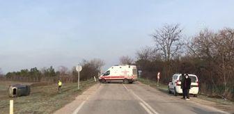 Edirne Kapalı Cezaevi: Tarlaya devrilen cipin sürücüsü yaralandı