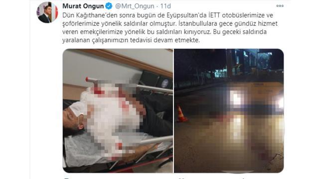 Eyüpsultan'da İETT çalışanına saldırı! Kanlar içinde kalan şoför hastaneye kaldırıldı