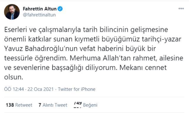 Gazeteci Yavuz Bahadıroğlu hayatını kaybetti