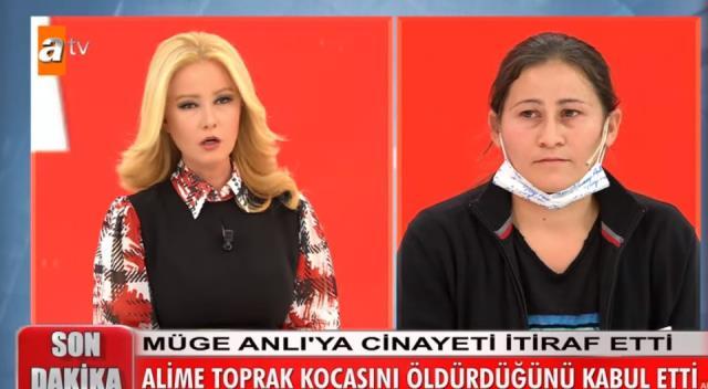 Genç kadın, Müge Anlı'nın canlı yayınında eşini öldürdüğünü itiraf etti