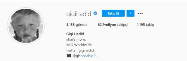 Gigi Hadid'in bebeğinin adı ne? Gigi ve Zayn'in çocuğu kız mı, erkek mi, adını açıkladı mı?