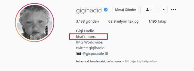 Gigi Hadid ve Zayn Malik'in kızının ismi sonunda ortaya çıktı