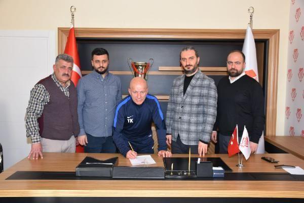 Gümüşhanespor'da teknik direktör Kerimoğlu imza attı