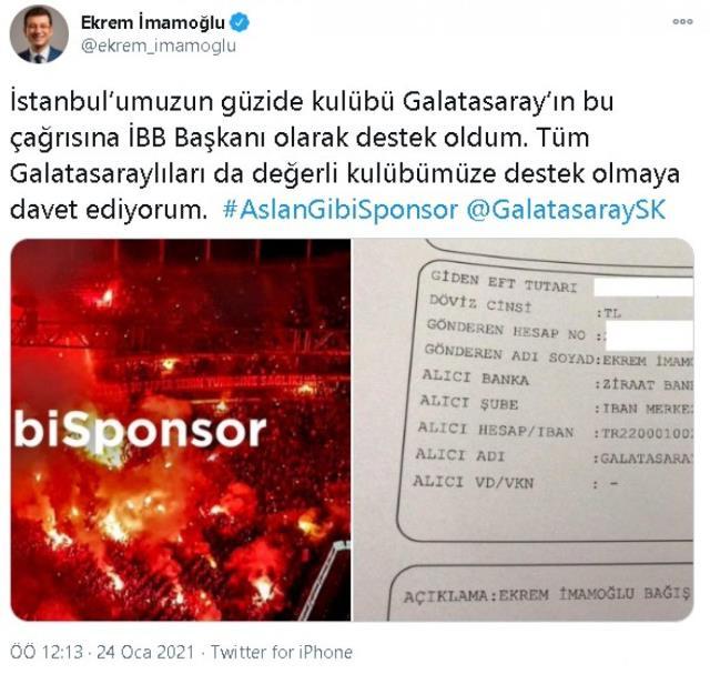 İmamoğlu'nun yaptığı bağış sosyal medyayı ikiye böldü! Fenerbahçeliler İBB Başkanını kendi kampanyalarına davet etti