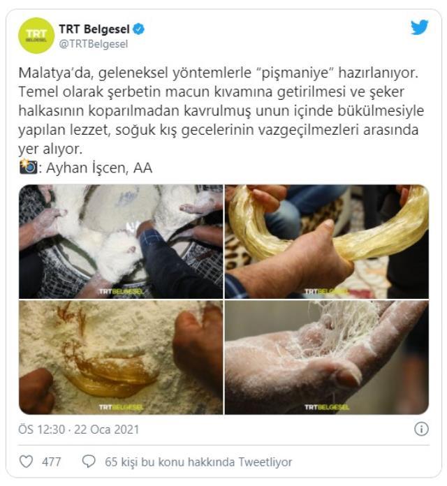 TRT Belgesel'in pişmaniye paylaşımına İzmit Belediyesi'nden espirili gönderme: Kırmızı çizgimizdir