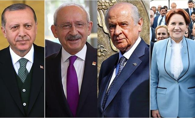 Optimar anketinde en beğenilen siyasetçi Cumhurbaşkanı Erdoğan olurken onu cezaevindeki Demirtaş takip etti