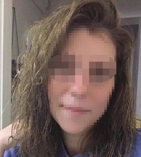 Eli bıçaklı kadının sokakta iki kişiye saldırdığı anlar kamerada (2)