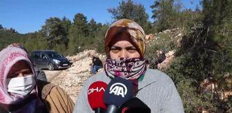 Sütçüler: Heyelan nedeniyle evlerini boşaltması istenen köylüler mermer ocağının sahiplerine tepki gösterdi