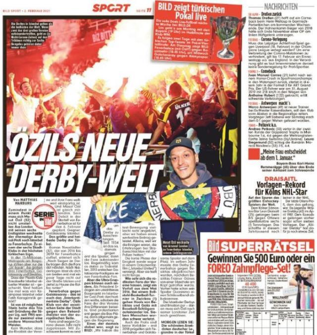 F.Bahçe'nin Mesut transferi sonrası Bild, Türkiye Kupası'nın internet yayın hakkını aldı