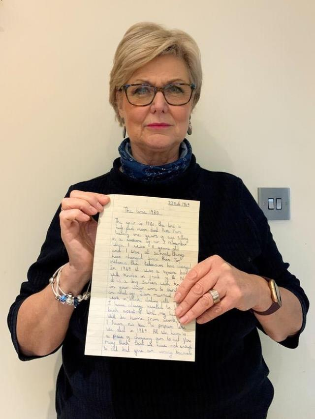 11 yaşındaki kızın, 1969 yılında yazdığı içi kehanetlerle dolu mektup bulundu