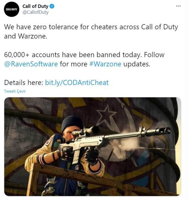 Call of Duty: Warzone 60 bin hileciyi banladı