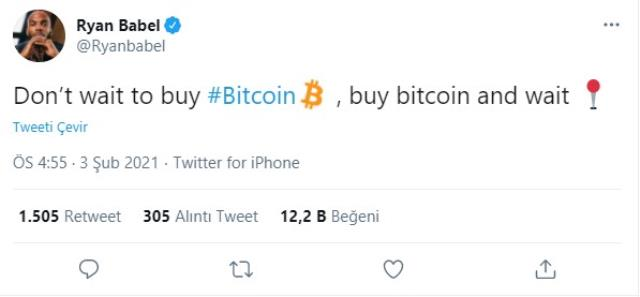 Fenerbahçe derbisi öncesi Ryan Babel'den şaşırtan Bitcoin paylaşımı