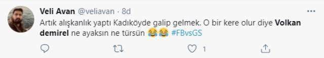 Derbi galibiyeti sonrası G.Saray taraftarı Volkan Demirel'i sosyal medyada ti'ye aldı