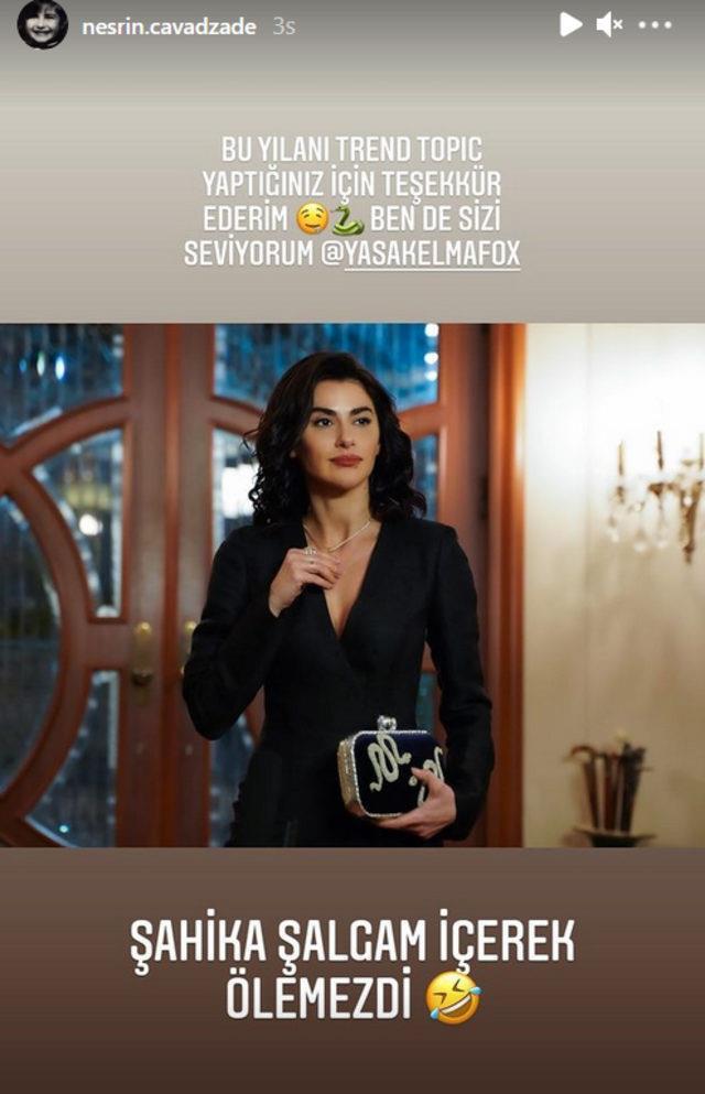 Şahika'nın ölüm iddiası Yasak Elma'ya damga vurdu! Nesrin Cavadzade'nin cevabı herkesi güldürdü