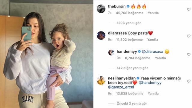 Hande Erçel'in duş sonrası ıslak saçlı paylaşımı olay yarattı