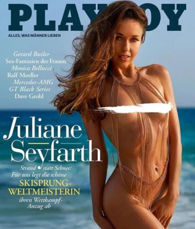 Dünya şampiyonu Juliane Seyfarth, ünlü erkek dergisine çırılçıplak soyundu
