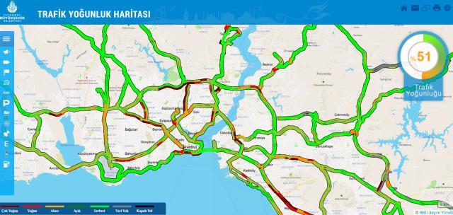 17 Şubat İBB Trafik Yoğunluğu | İBB Trafik Yoğunluk Haritası! İstanbul E5 trafik durumu! İBB trafik canlı takip linki! İBB trafik kameraları!