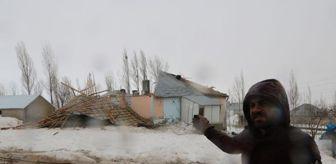 Büyükçiftlik: Yüksekova'da fırtınada çatıları uçan aile büyük korku yaşadı