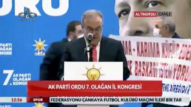 AK Parti kongresini karıştıran pankart: Anama-karıma küfür eden belediye başkanı istemiyorum