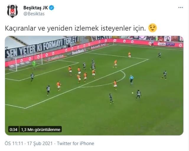 Beşiktaş, paylaştıkları videonun yayıncı kuruluş tarafından kaldırılmasına tepki gösterdi