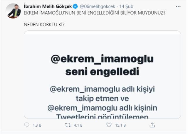 İmamoğlu engelleyince art arda paylaşımlar yapan Gökçek iddialı konuştu: Benden korkuyor