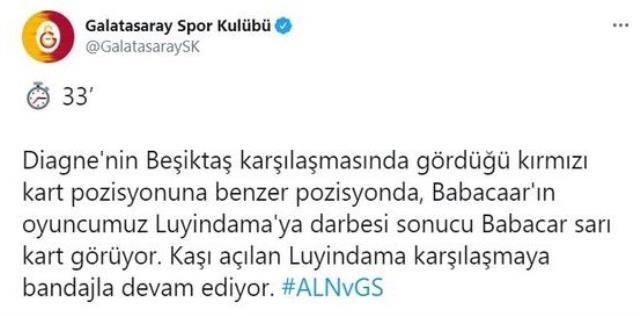 Tepki çeken pozisyon sonrası Galatasaray'dan Diagne'li paylaşım