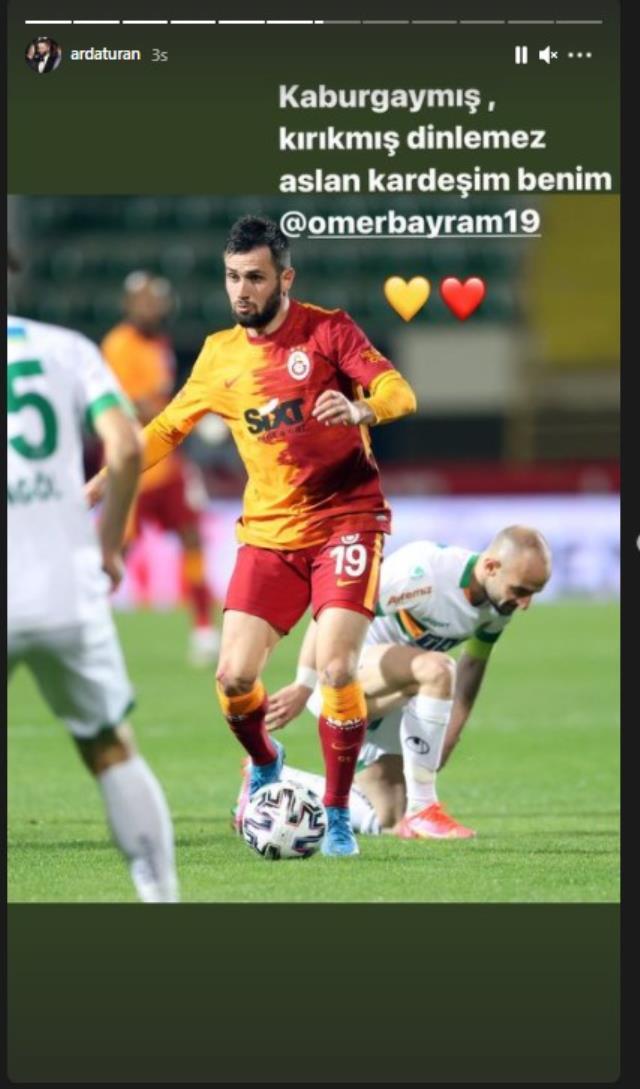 Galatasaray'ın Alanyaspor'u 1-0 mağlup ettiği maçta Ömer Bayram'ın kırık kaburgayla oynadığı ortaya çıktı