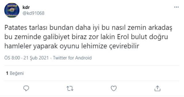 Supporters of Ülker Stadium's broken ground revolted on social media