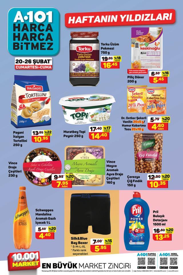 A101, 20-26 Şubat Haftanın Yıldızları Kasım Pazartesi indirimli ürünler kataloğunu yayınladı