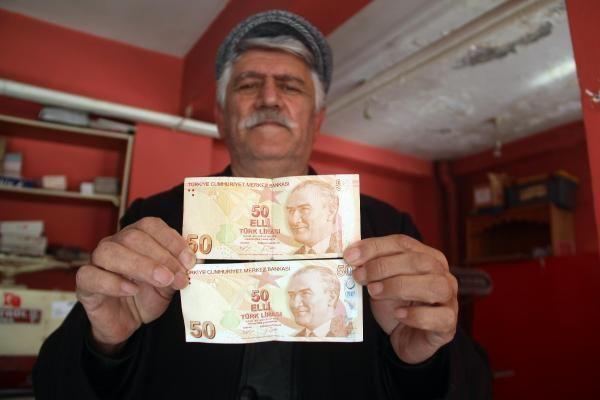 Bankamatikten çektiği hatalı basım 50 lirayı koleksiyoncular için satışa çıkardı