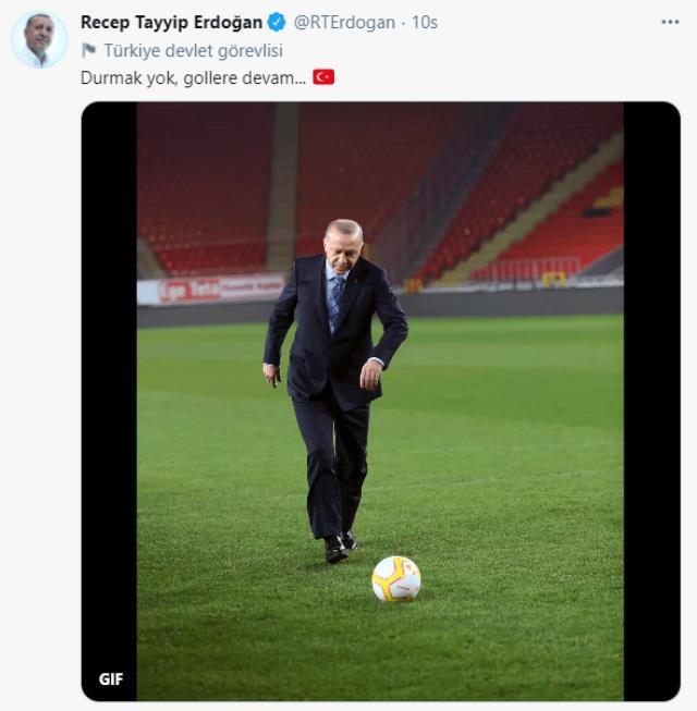 Cumhurbaşkanı Erdoğan'ın 'Gollere devam' paylaşımına Ekrem İmamoğlu sessiz kalmadı