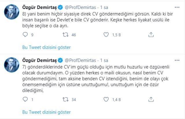 Demirtaş, 'Berat Albayrak'a cv gönderip torpil istedi' iddialarına yanıt verdi: Trollerin saldırısı